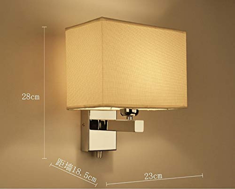 Wangwang454 Wandlampe des Schlafzimmerwandlampengewebes Führte Moderne Minimalistische Gangwandlampe Hotelzimmerlicht, Art 29