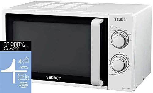 Sauber - Microondas SERIE 3-20W - 20 litros - Color Blanco