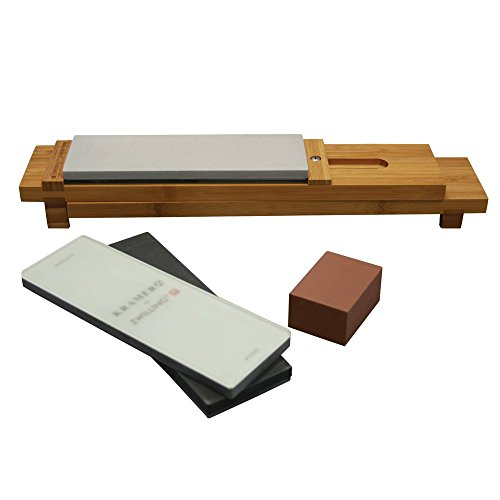ZWILLING J.A. Henckels 34999-403 6-pc Glass Water Stone Sharpening Set, 16', Brown