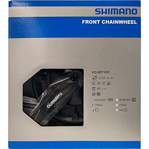 Shimano Unisex– Erwachsene Kurbelgarnitur-2092832800 Kurbelgarnitur, schwarz, 170mm