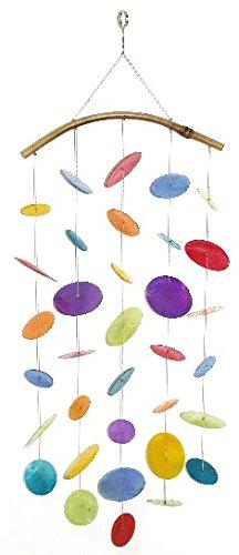 Muschel Windspiel, geschwungen, regenbogen L. 60 cm