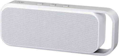 JVC SP-ABT1-W-E Bluetooth Lautsprecher (v3.0 Bluetooth, NFC, 3,5 mm Klinke, 6 Watt, micro-USB) weiß