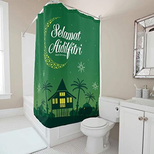 Vrnceit Lasser Bairam gedempte tinten badgordijnlaag met haken voor badkamer decoratie polyester