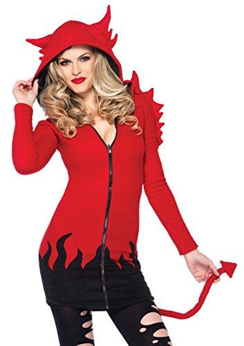 Leg Avenue - 8531003003 - Déguisement pour Adulte - Modèle 85310 - Demon Douillet Costume - Taille L - Rouge