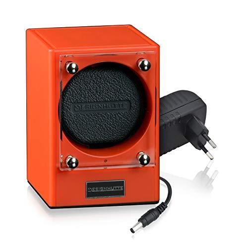 Design-HÜTTE® Piccolo Piccolors Limited Edition - Expositor giratorio para 1 reloj automático, sistema modular hasta 4 movimientos, se pueden conectar de forma inalámbrica por inducción