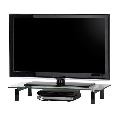 Maja 16039599 - Mueble para televisión (820 x 125 x 350 mm, metal y cristal), color negro
