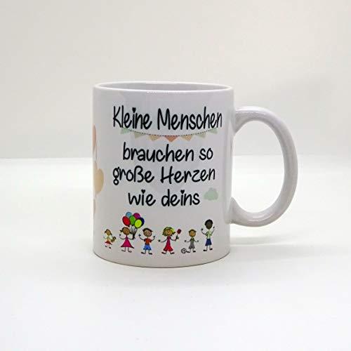 Kaffeebecher ~ Tasse - Kleine Menschen brauchen so große Herzen wie DEINS ~Weihnachten Geschenk