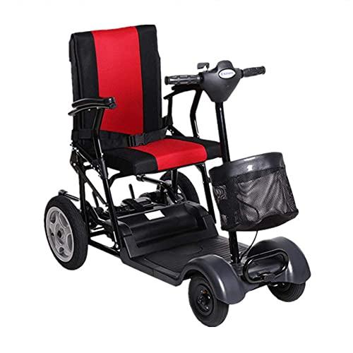 H&1 Silla de Ruedas eléctrica Scooter eléctrico Plegable Movilidad eléctrica Dos baterías Movilidad Scooter de 4 Ruedas Rango de Crucero 25Km y Pantalla HD