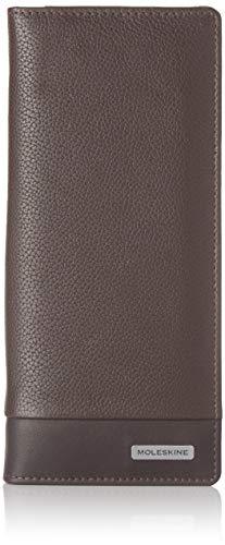 Moleskine - Cartera clásica, 100% piel con 15 solapas para tarjetas de crédito y monedero, tamaño 9 x 19 x 2 cm, marrón