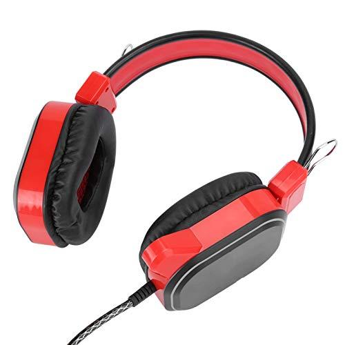 Socobeta Micrófono estéreo Auriculares Profesionales Auriculares con Cable USB Auriculares para Juegos...