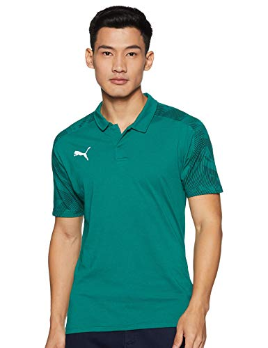 PUMA Herren Cup Sideline Polo Poloshirt, Alpine Green-Pepper Green, L