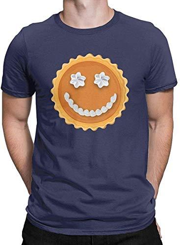 Patisaner Men's Grafik T-Shirt gedruckt Happy Thanksgiving Pumpkin Pie Spice Gift Humor lustiges kurzärmliges T-Shirt