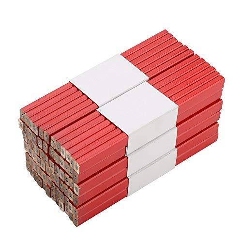 Lápices de Carpintero, Lápices para Carpintero herramienta de marcación Rojo, 72 Pzas, 175 mm