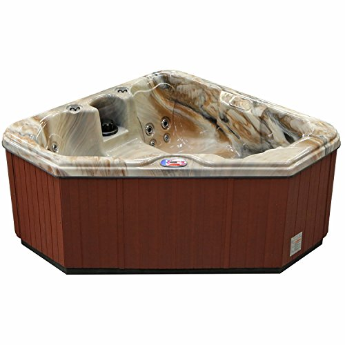 American Spas Hot Tub AM-628TM 2-Person 28-Jet Triangle with Free Cover, Tuscan Sun