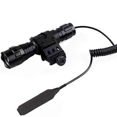 Windfire wf-501b tattico caccia torcia LED Cree XM-L T61000lm 3.7–18V 1modalità torcia con interruttore a pressione e 45° Side Picatinny Mount rail offset Ring Side Mount (batterie non incluse)