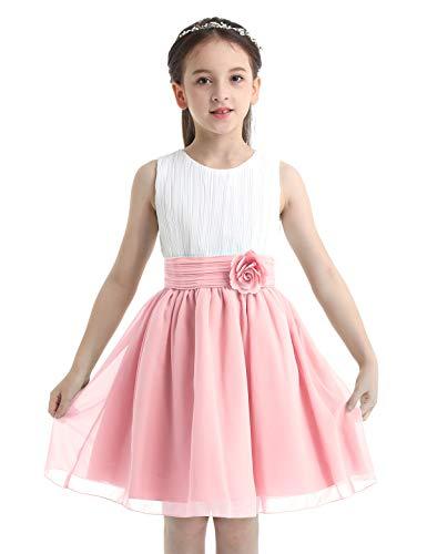 IEFIEL Vestido Elegante de Fiesta para Niña Vestido Princesa Corto de Dama...