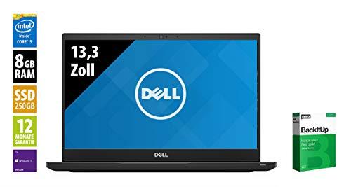 Dell Latitude 7390-13,3 Zoll - Core i5-8350U @ 1,7 GHz - 8GB RAM - 250GB SSD - FHD (1920x1080) - Webcam - Win10Pro (Zertifiziert und Generalüberholt)