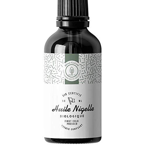 Organic Nigella Mafuta anotonhora akadzvanywa, Akachena, Akasviba Clue - 100% Natural Care Neganda, Bvudzi, Scalp - cosmetic uye chikafu mhando - 50ml