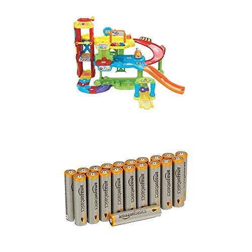 VTech Baby 80-180004 - Tut Tut Flitzer - Parkgarage mit Amazon Basics Batterien