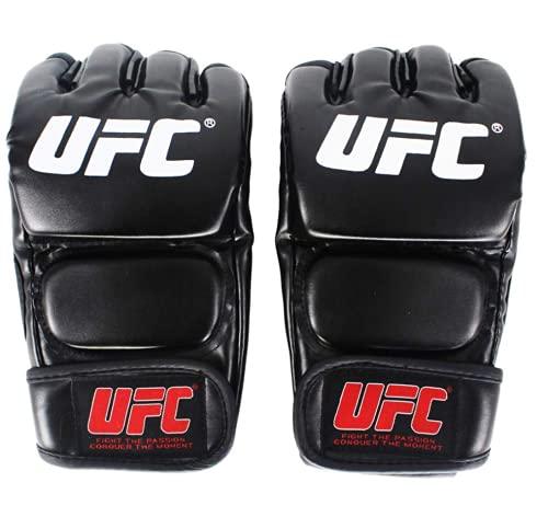 Guanti UFC MMA. MMA neri feroz lotta media dito guanti Tigre Boxe Muay Thai da Boxe Guanti MMA Guantoni Sanda Boxe Boxe Boxe
