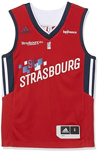 Unisex Adulto SIG Strasbourg Domicile 2018 Camiseta de Baloncesto