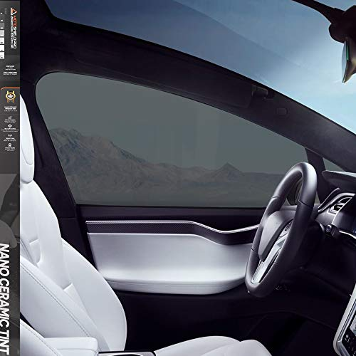 "MotoShield Pro Premium Professional 2mil Ceramic Window Tint Film for Auto | Reduce Infrared Heat & Block UV by 99% - 25% VLT (20"" in x 10' ft Roll)"