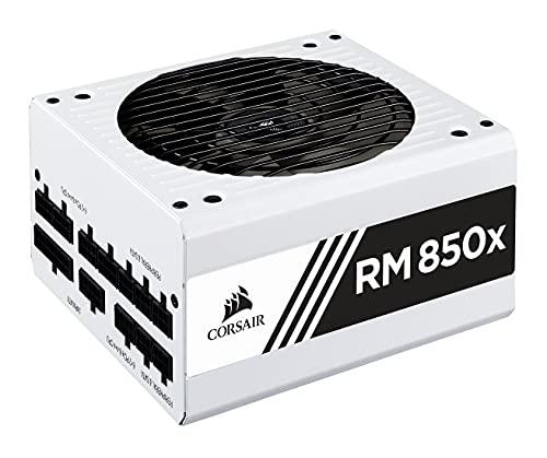 Corsair RM850x Alimentation PC (Modulaire Complet, 850 Watt, 80 PLUS Gold) Blanc