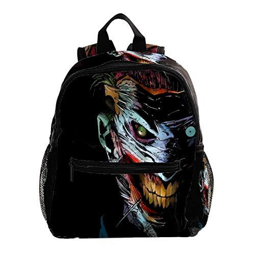 College Backpack, Travel Laptop School Backpack,Middle Student Bookbag,Vintage Casual Daypack for Boys Girl,Joker Smile Black