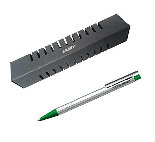 Lamy Kugelschreiber matt Logo Modell 205, Farbe grün inkl. Laser-Gravur