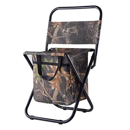 LHFLU-SP Outdoor Folding Camping Chairs Ultra Light Fishing Chair Seat Stool Leisure Picnic Beach Chair with Backrest Storage Bagre,leaf camouflage