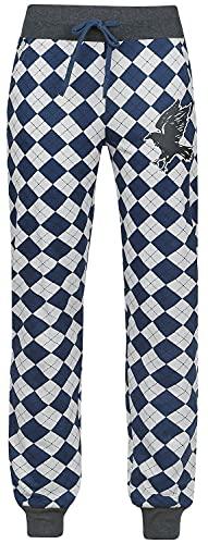 HARRY POTTER Ravenclaw Mujer Pantalón de Pijama Gris/Azul S 34