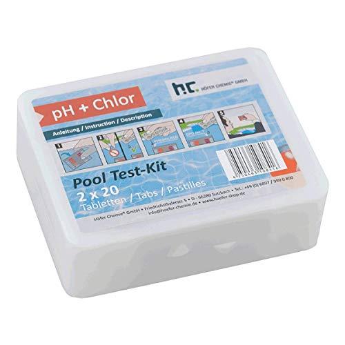 Höfer Chemie DPD Pool-Test-Kit - zur Bestimmung von ph-Wert und Chlorwert