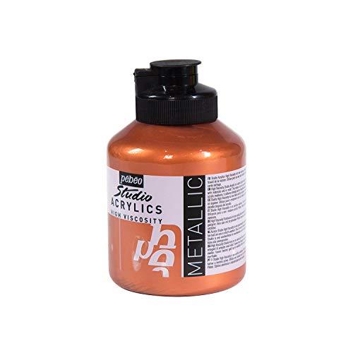 Pébéo - Acrylique Fine Studio Acrylics - Peinture Acrylique Cuivre – Peinture Métallique Acrylique – Cuivre 500 ml