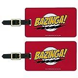 The Big Bang Theory Sheldon Bazinga - Juego de 2 etiquetas para equipaje