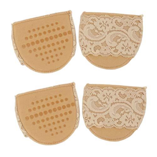 SUPVOX Coussinets métatarsiens tampons avant-pied coussins de ballon invisibles anti-dérapants demi-tapis de protection 2pcs (kaki)
