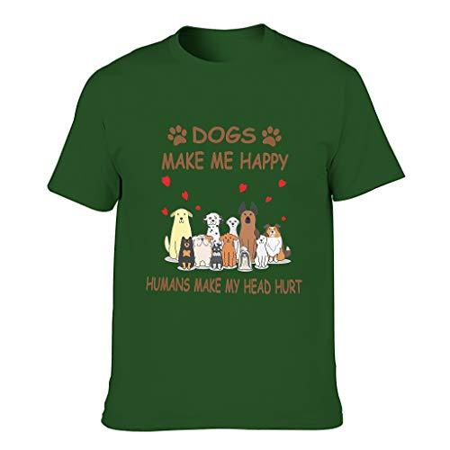 Harberry Camiseta de algodón para hombre con texto en inglés 'Make Me Happy Day'