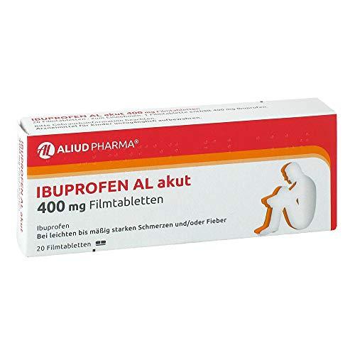 Ibuprofen AL akut 400 mg Filmtabletten, 20 St. Tabletten