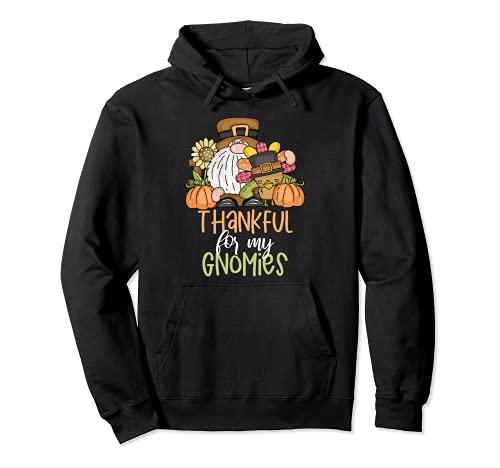 Gnomo Otoño Agradecido Por Mis Gnomies Acción de Gracias Turquía Sudadera con Capucha