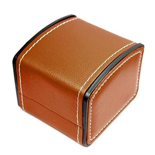 Uhrenbox PU Leder Quadrat Geschenk Armband Armreif Schmucketui Organizer, Langlebige Display Aufbewahrung, Gutes Geschenk