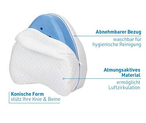 Mediashop Dreamolino Leg Pillow – ergonomisches Seitenschläferkissen für optimale Unterstützung – Memory Foam Kissen für Seitenschläfer stützt Beine, Knie und Rücken - Versand Edition - 5