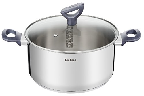 Tefal Daily Cook - Cacerola acero inoxidable con Tapa de 24