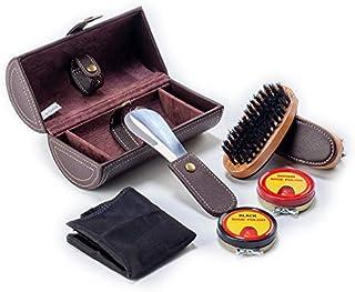 l/´Entretien e Le Soin Kit dentretien de Chaussures Kit Kit pour Cirage de Chaussures de Voyage 8 pi/èces Kit pour Cirage de Chaussures avec /étui /él/égant Bottes de Nettoyage en Cuir Brillant