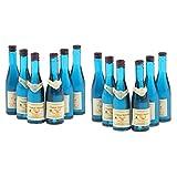 T TOOYFUL Botellas de vino en miniatura hechas a mano de 12 piezas de casa de muñecas botellas de champán para bebidas a escala 1/12 mini bar pub vida escenas accesorio
