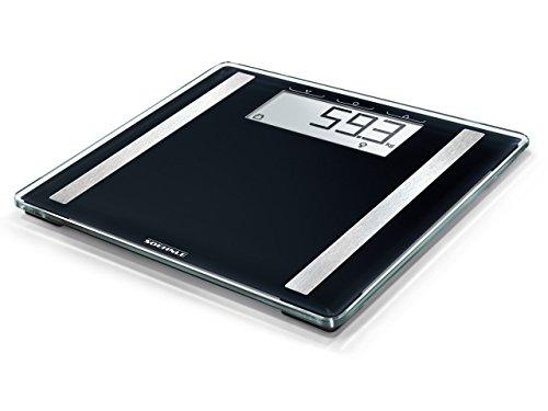 Soehnle Shape Sense Control 100 Körperanalysewaage für Fitnesseinsteiger, Waage berechnet Wasser- und Fettanteil, Personenwaage mit großer LCD-Anzeige