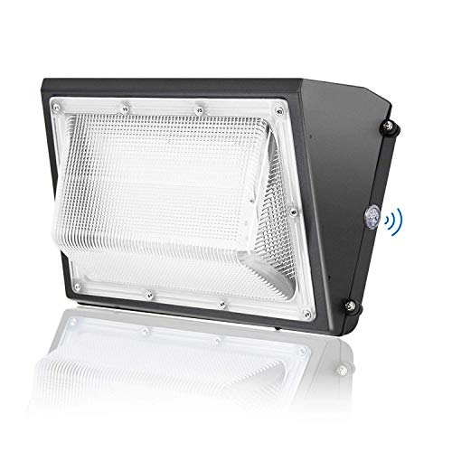 100W LED Wall Pack with Dusk-to-Dawn Photocell - 12800LM, 5000K Daylight, JESLED Outdoor Waterproof Security Light Fixture, 400 Watt HPS/MH Replacement, Industrial Residential, Commercial Lighting