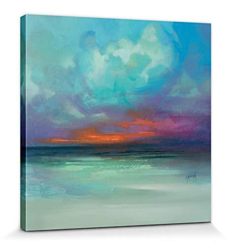 1art1 Scott Naismith - Hebridean Tranquility Bilder Leinwand-Bild Auf Keilrahmen | XXL-Wandbild Poster Kunstdruck Als Leinwandbild 40 x 40 cm