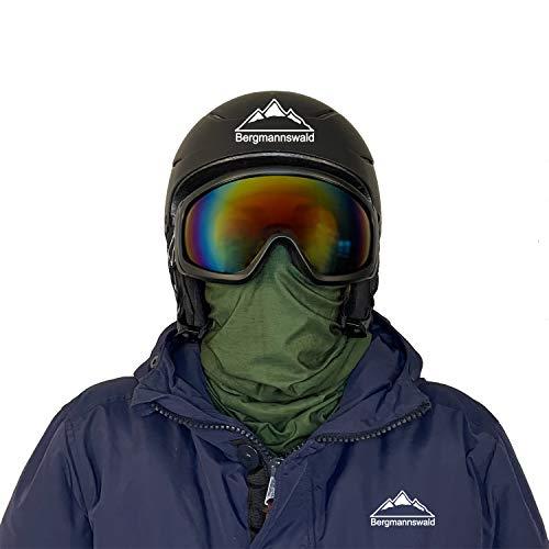 Bergmannswald Braga cálida con forro polar suave, para esquiadores, ciclistas, campistas, etc. Transpirable y flexible. verde Talla única