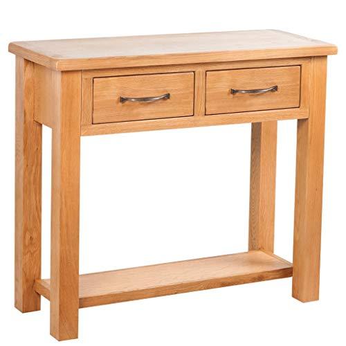 vidaXL Konsolentisch Beistelltisch Wandtisch mit 2 Schubladen 83×30×73 cm Eiche