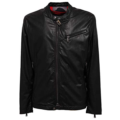 FREEDOMDAY 4666J Giubbotto Uomo Black eco-Leather Jacket Man [XXL]