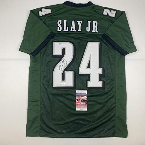 Autographed/Signed Darius Slay Jr. Philadelphia Green Football Jersey JSA COA